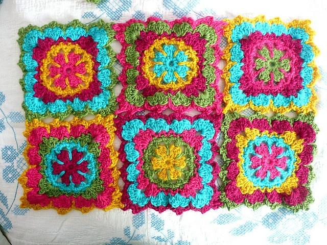 Wool Granny Squares by IamSusie, via Flickr