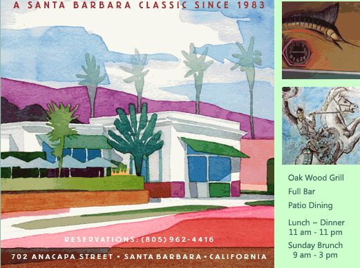 Paradise Cafe for lunch in Santa Barbara
