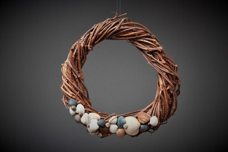 Deko-Objekte - Türkranz mit Muscheln - ein Designerstück von Prinzessin-Schluesselblume bei DaWanda