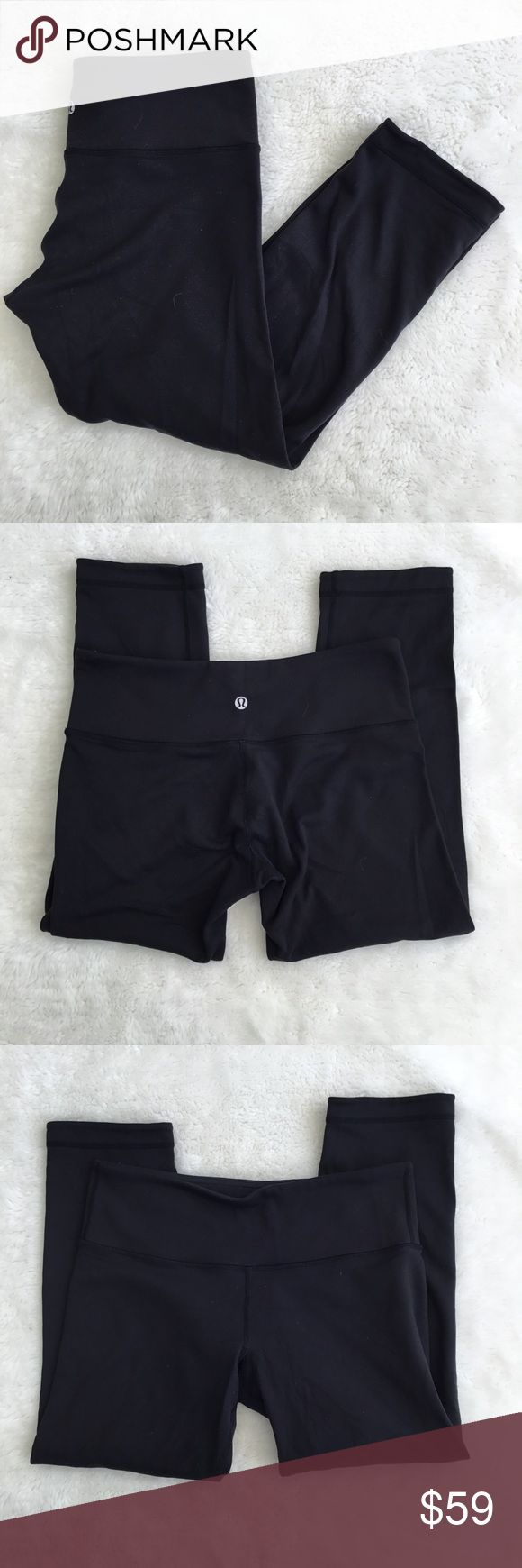 Lululemon Wunder Crop Black Pants Size 6 Pre-owned authentic Lululemon Wunder Crop Black Pants Size 6. Great condition. Please look at pictures for better reference. Happy Shopping! lululemon athletica Pants