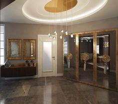 Tasarımı MİMAR EMİNE GÜRBÜZ e aittir - Libya'da bulunan villa projesi - 3d iç mekan mimari modelleme ve tasarım - 3d hol- antre - hol - giriş - asansör