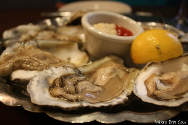 Oysters on the half shell at Detroit Seafood Market