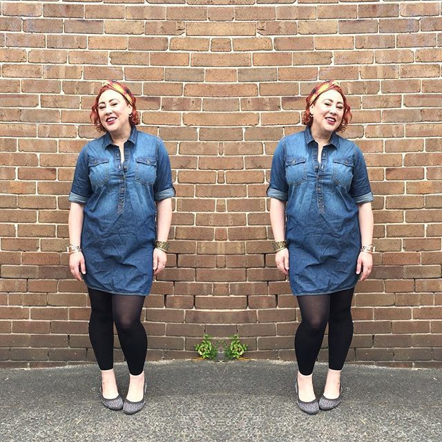 Can't beat a classic. Classic denim. Classic shirt dress. Thanks @katiesfashion for the SS15 gift! #styleblogger #sydneyblogger #SpringFling #ootd #kimbalikes X