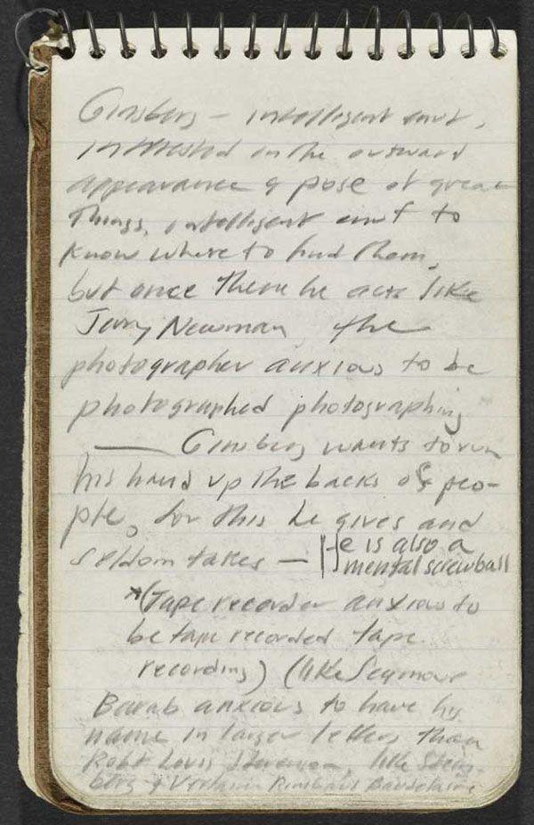 Jack Kerouac's notebook, 1953