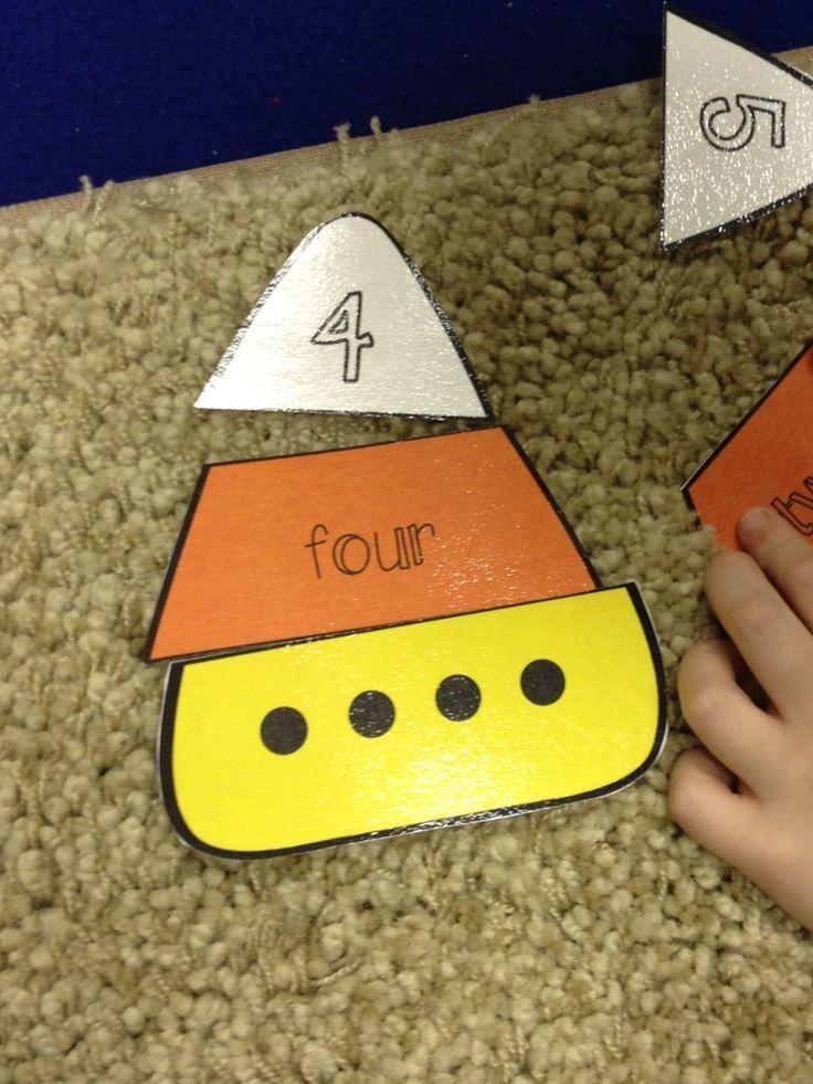 Pre-K math center idea. Good idea for my niece!