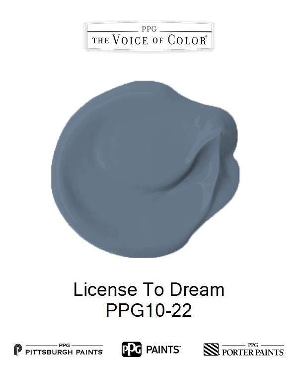 License To Dream is a part of the  collection by PPG Voice of Color®. Browse this paint color and more collections for more paint color inspiration. Get this paint color tinted in PPG PITTSBURGH PAINTS®, PPG PORTER PAINTS® & or PPG PAINTS™ products.