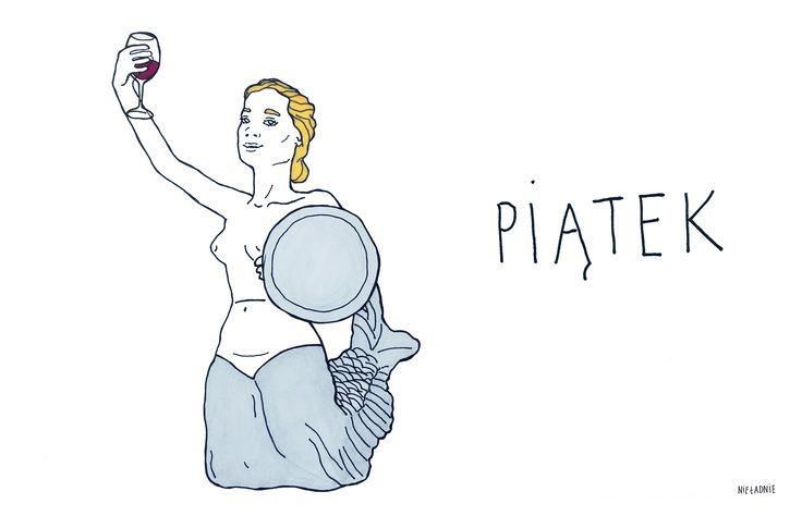 #friday #piątek #weekend #wino #kobiety #śpiew #nieładnie #nieladnierysuje #ilustracja #kamila #szcześniak #illustration #rysunki