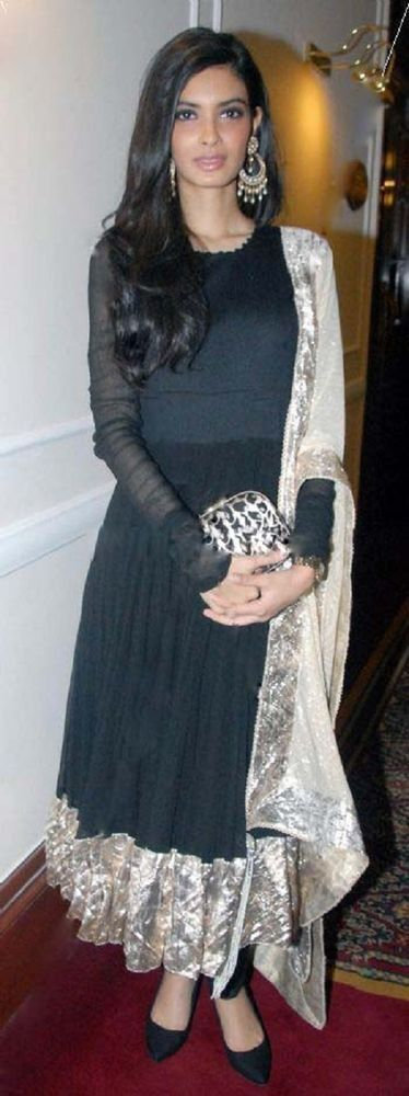 Eid Party Special Indian Traditional Black Wedding Long Partywear Anarkali Dress #FatimaBi #AnarkaliKameez