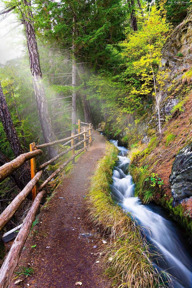 Irrigation by Ralph Reichert near Sluderno Follow @travelgurus for the best Tumblr landscapes