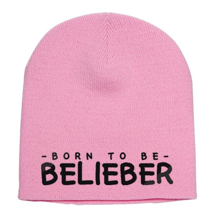 Born to be Belieber Embroidered Knit Beanie is professionally designed and embroidered in U.S. Find other music designs or create your own custom hat. This custom design is all about born-to-be-belieber, belieber, justin-bieber, bieber, born-to-be-belieber-shirt, born-to-be-belieber-t-shirt, born-to-be-belieber-shirts, born-to-be-belieber-jumper, born-to-be-belieber-hoodie, born-to-be-belieber-sweatshirt. Embroidery is the most durable option available and won't wear off. This is one of o...