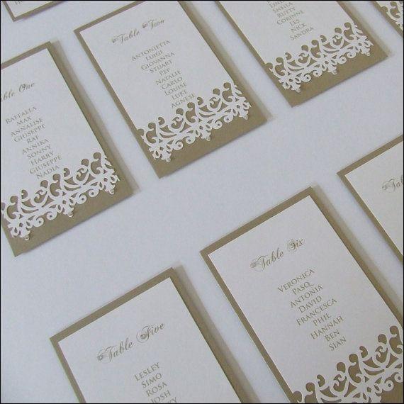 Filigree Lacy Edge Wedding Table Plan  by WeddingParaphernalia