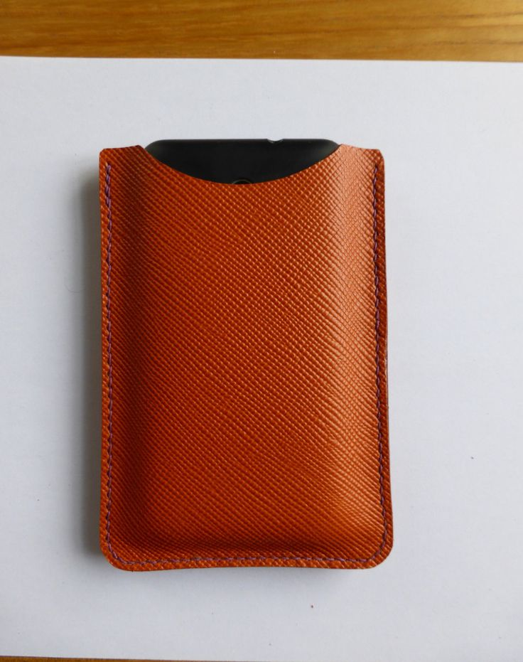 mobile phone case in saffiano leather with optional lining by YoudsLeather on…