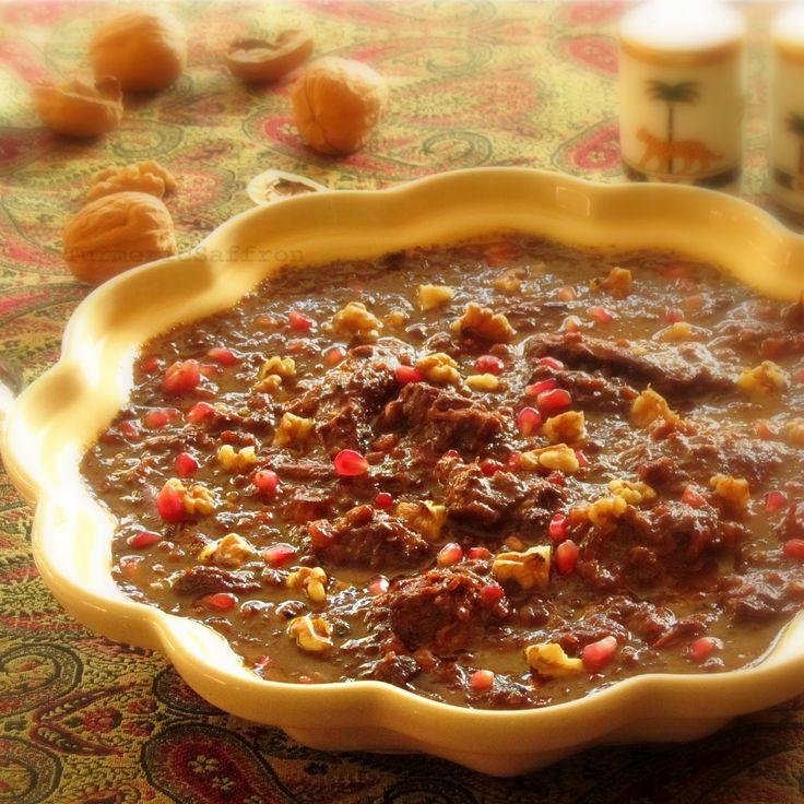 Turmeric and Saffron: Fesenjoon - Pomegranate Walnut & Chicken Stew