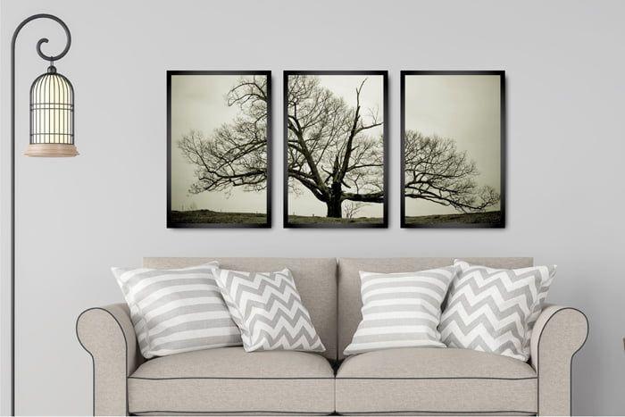 Kit 3 Quadros Decorativos Para Sala Quarto árvores Secas Quadros Decorativos Para Sala Quadros Decorativos Quadros Pra Sala