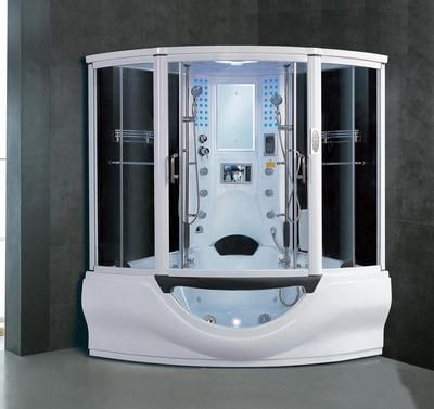 quot The Coolest Shower In America quot  Via My Bath   My Bath  39 s Rainforest 78 Steam Shower  Heated 16 jet whirlpool bathtub featuring inch LCD TV. 1000  ideas about Steam Shower Units on Pinterest   Awesome