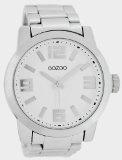 Oozoo Herrenuhr mit Metallband XXL - Weiss/Silber - C5600
