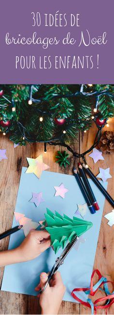 Carton, perles hama, pâte à sel : 30 idées de bricolages de Noël à faire avec les enfants !