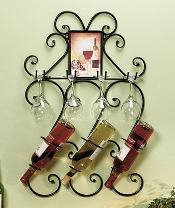I love this wine rack, especially for an apartment or bar hanging!
