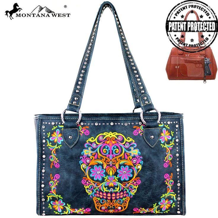 Sugar Skull Concealed Handbag