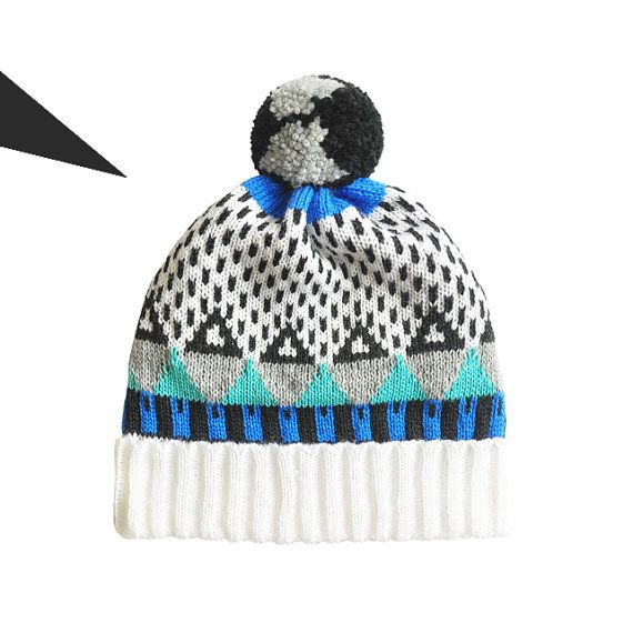 37 Triangle Detachable PomPom Beanie Hat for men for by YuSquare