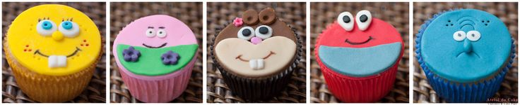 Cupcakes modelados. Bob esponja. Sponge Bob Cupcakes