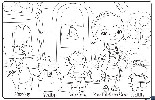Doctor McStuffins Coloring Pages | ... . TV Show, print these free Doc McStuffins coloring pages and crafts