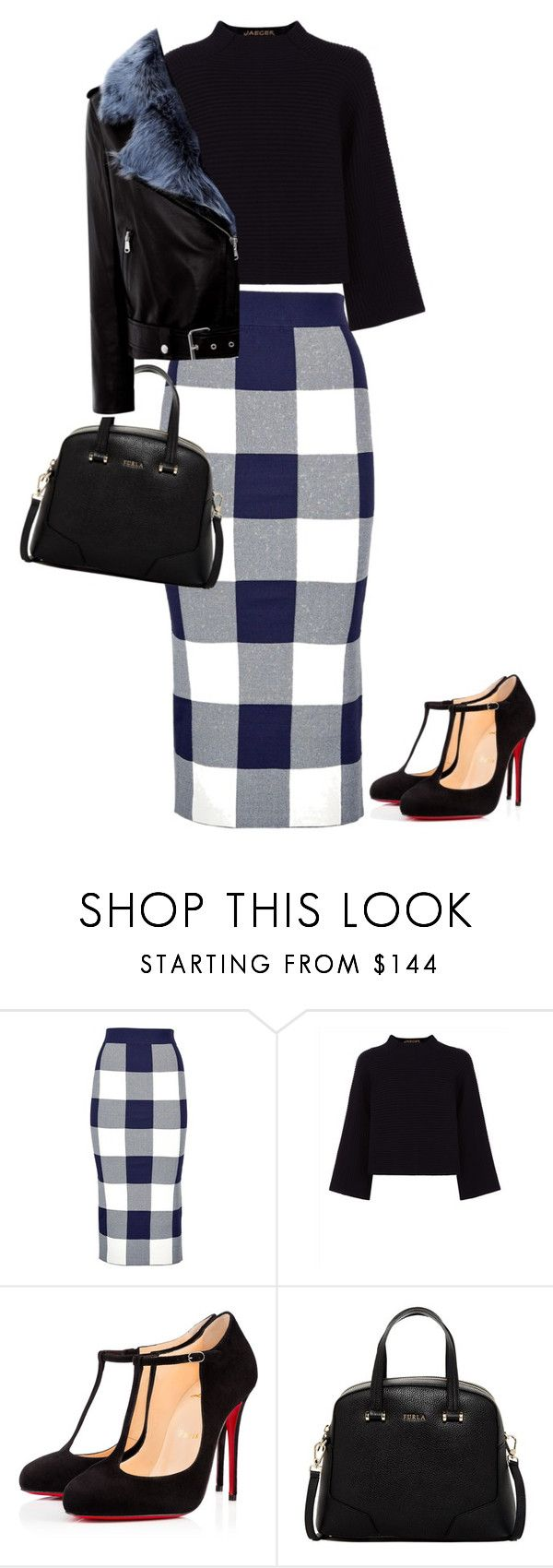 """""""Untitled #578"""" by waila-3 ❤ liked on Polyvore featuring Whistles, Jaeger, Christian Louboutin, Furla and La Bête"""