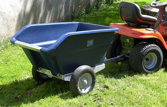 ATV 250 litres trailer behind a quad bike suitable for ATV quad bikes, compact tractors, ride-on lawn mowers and UTVs. For more info contact us at http://www.fresh-group.com/trailers-trolleys-and-carts.html