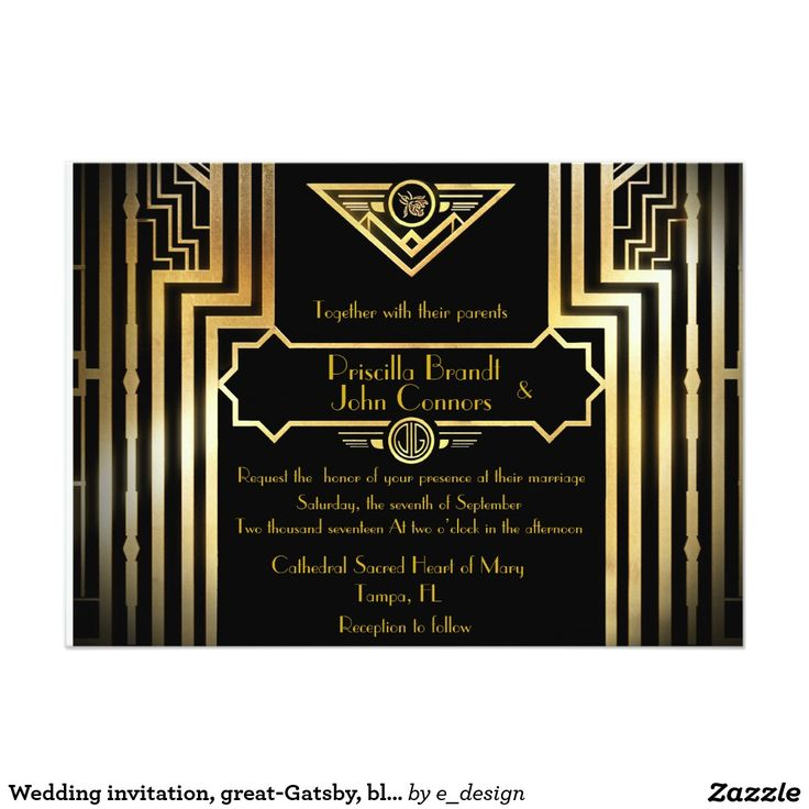 white and gold wedding invitations%0A Shop Bridal Shower  Gatsby style  white  u     gold Card created by e design