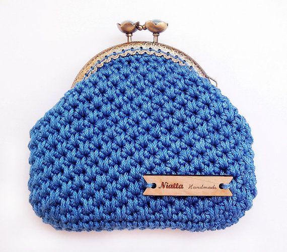crochet coin purse wedding gift for her bag retro change purse