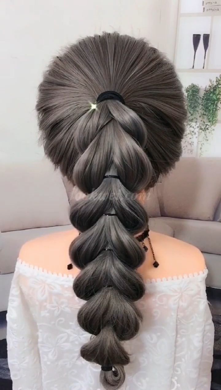 50 video ideas for long hair  #hairstyles #Recogido_corto