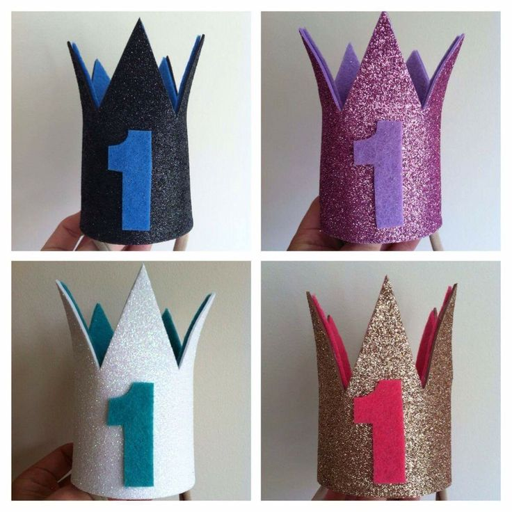 Glitter 1st Birthday Crowns $15pp Purchase via Instagram @lovefromlyndsay