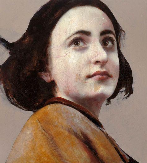 Lita Cabellut - ANNE FRANK 200x180, mixed media, 2012