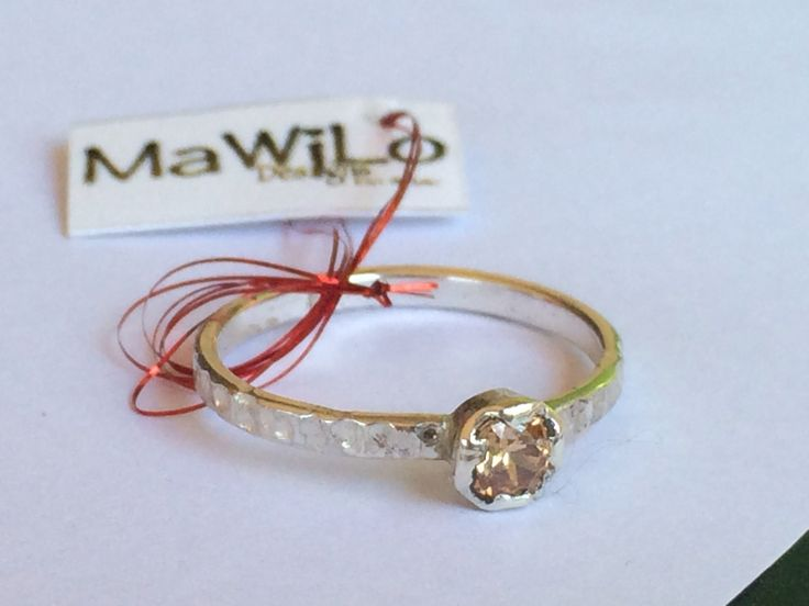 MaWiLo Designs Sterling silver champagne cubix ring mawilo.designs@gmail.com