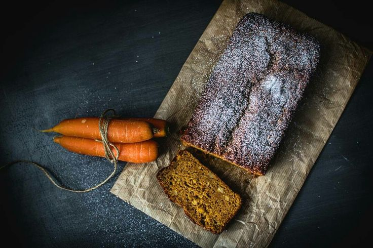 Carrot Plumcake / Dark Food Photography