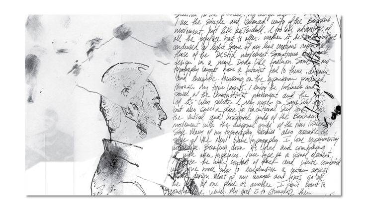Hand writing style journal. This example is not a collage or final paint job. This is a writing with a quick sketch. Visual Journal is genuinely to communicate the idea not the final work. so quick sketch is more productive because the designer should really dedicate their time on doing their final design
