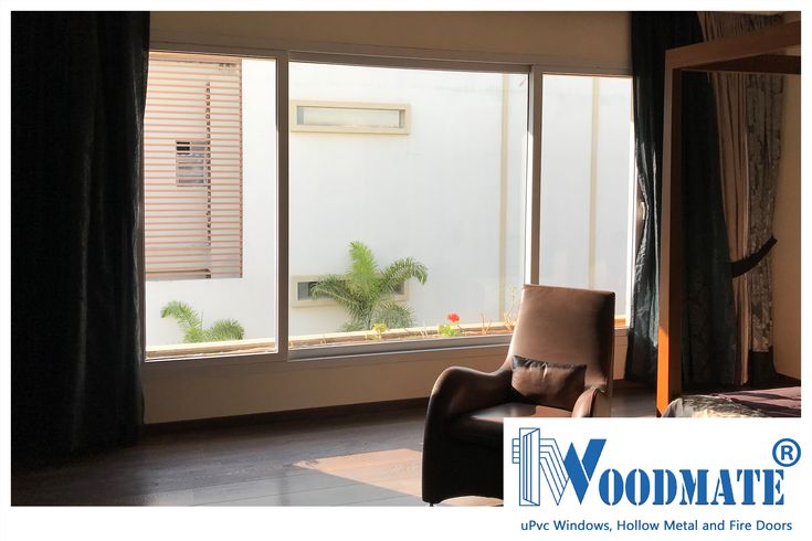 An elegantly designed Master Bedroom,that maximizes entry of light and air with WoodMate uPVC Windows. Can you imagine waking up to the morning sun here? Add #WoodMateWindows to your homes.  #Bedroom #uPVCWindows #upvcdoors  #upvcdoorsandwindows #Doors #windows #beautifulwindows #beautifuldoors #Beautifulhomes #interiors #architecture #Bangalore #DeccanWoodMate
