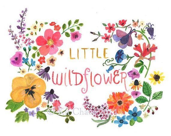 Children's Art LITTLE WILDFLOWER Art Print par trafalgarssquare