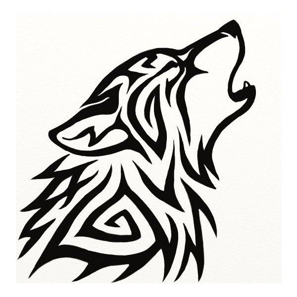 Tribal Wolf Avatar by Hareguizer ❤ liked on Polyvore