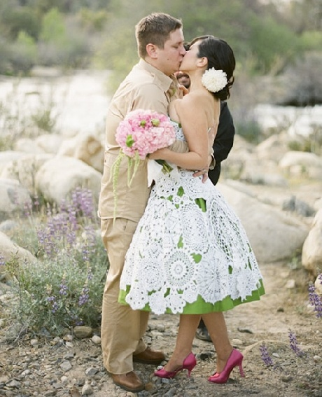 crocheted wedding gown patterns