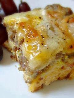 Breakfast Casserole Sausage, Egg and Biscuits Casserole  1 Can Buttermilk biscuit  1lb Jimmy Dean Sausage 1 C Shredded Mozzarella 1 C...