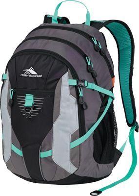 High Sierra Aggro Backpack Charcoal/Black/Silver/Aquamarine - via eBags.com!