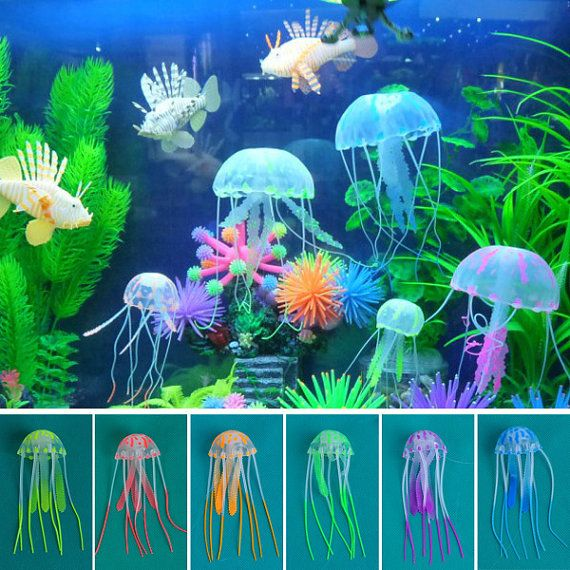 New Glowing Effect Jelly fish For Aquarium Fish by AquerSipeunique
