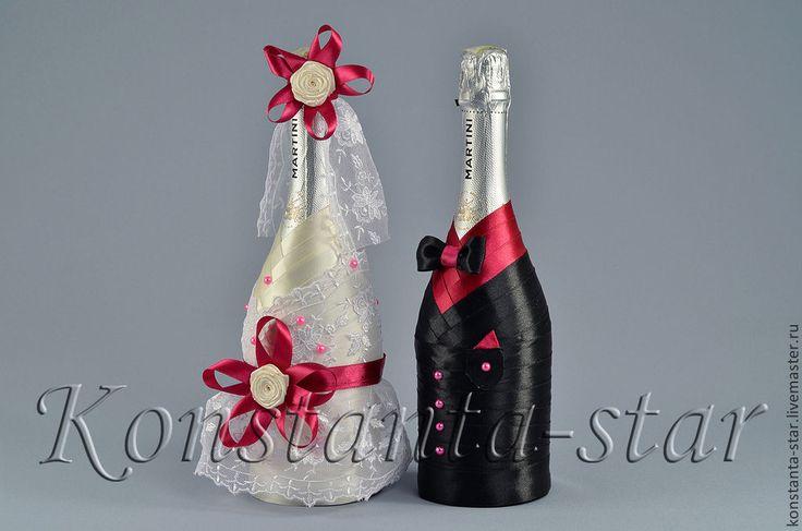 Купить Декор свадебного шампансокго, Цыганский барон - шампанское на свадьбу, шампанское, декор шампанского