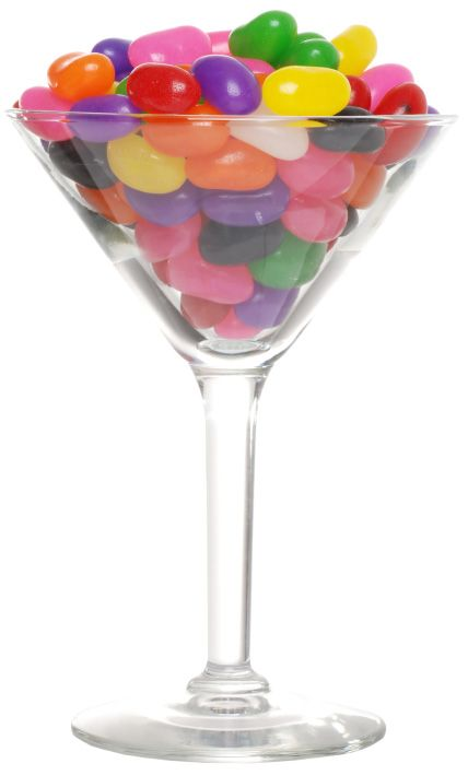 To make jelly bean-infused vodka, place 1/2 cup vodka and 1/4 cup jelly beans in a glass jar for about 48 hours. Strain. Makes four ounces. (Use one color of jelly beans for best results.)