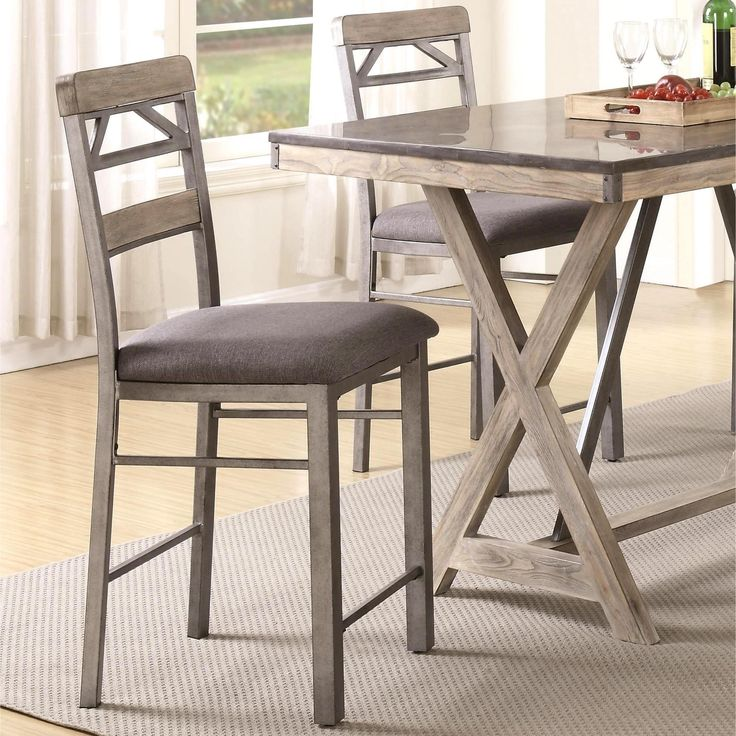 Craftsman Architectural Industrial Designed Counter Height Dining Stools ( Set Of 2) (Set Of
