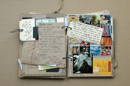 homeade travel journal with binder rings and cardstock/index card etc