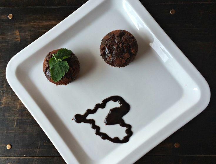 Bezlepkové čokoládové muffiny z ryžovej múky