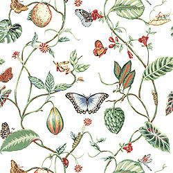 Thibaut Spring Lake - Lillian - Wallpaper - White