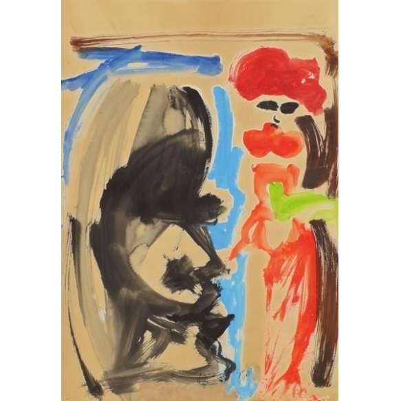Ivan Serpa Sem título - aquarela   1947 - 72 x 50